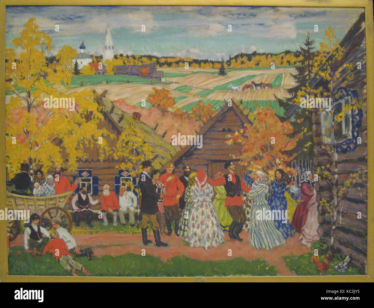 Village Festival, Boris Mikhailovich Kustodiev, 1924 Stock Photo