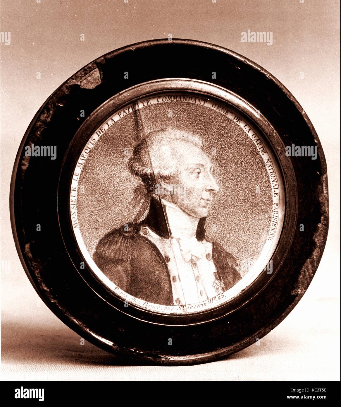 Marquis Miniatures: Marquis De Lafayette Portrait Stock Photos & Marquis De