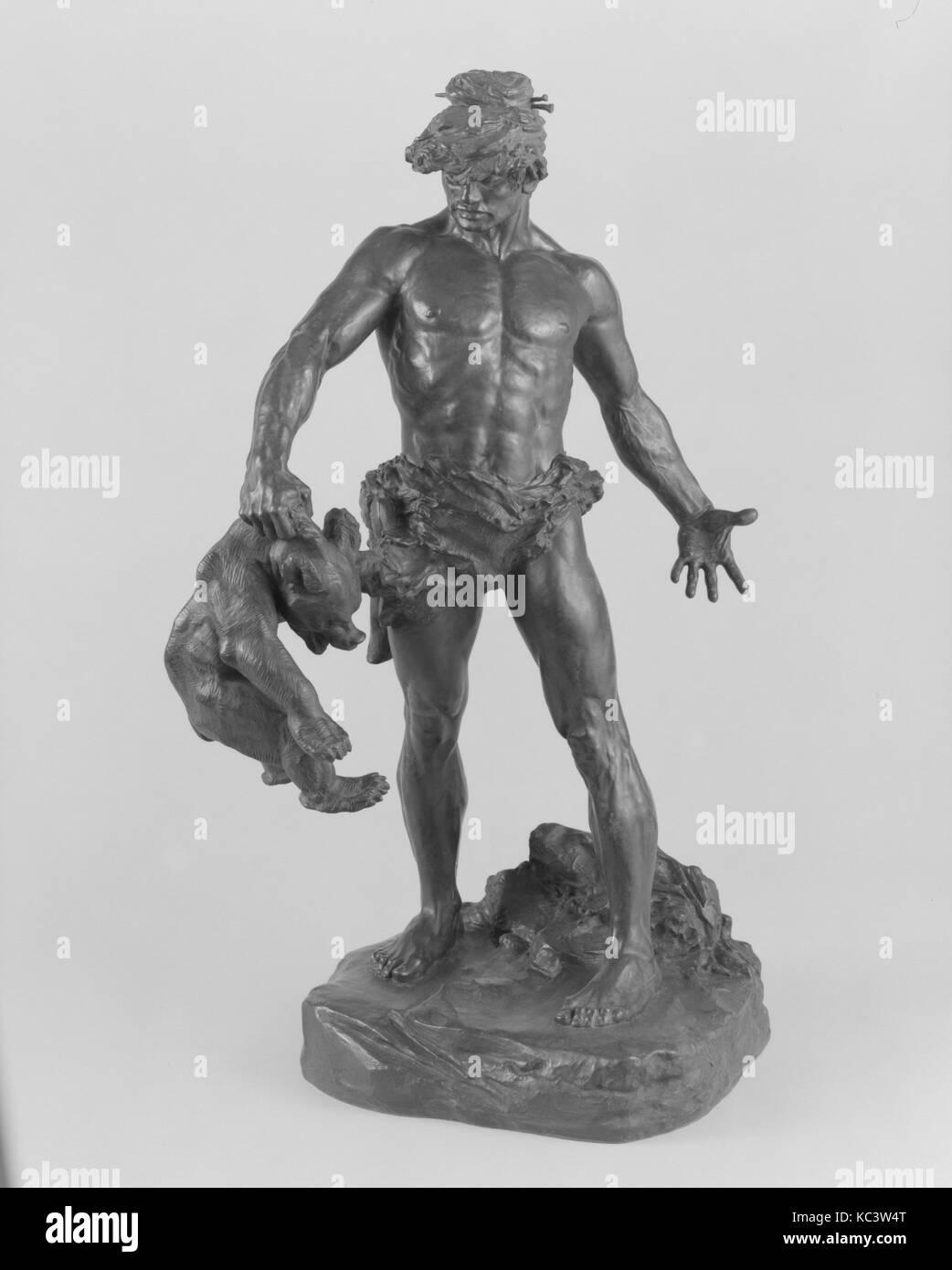 Primitive Man, Edgar Walter, ca. 1902–3, cast ca. 1905 - Stock Image
