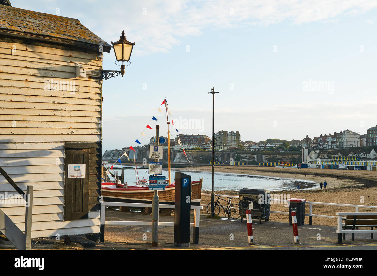 Broadstairs Harbour on the East Coast, Thanet, East Kent, UK - Stock Image