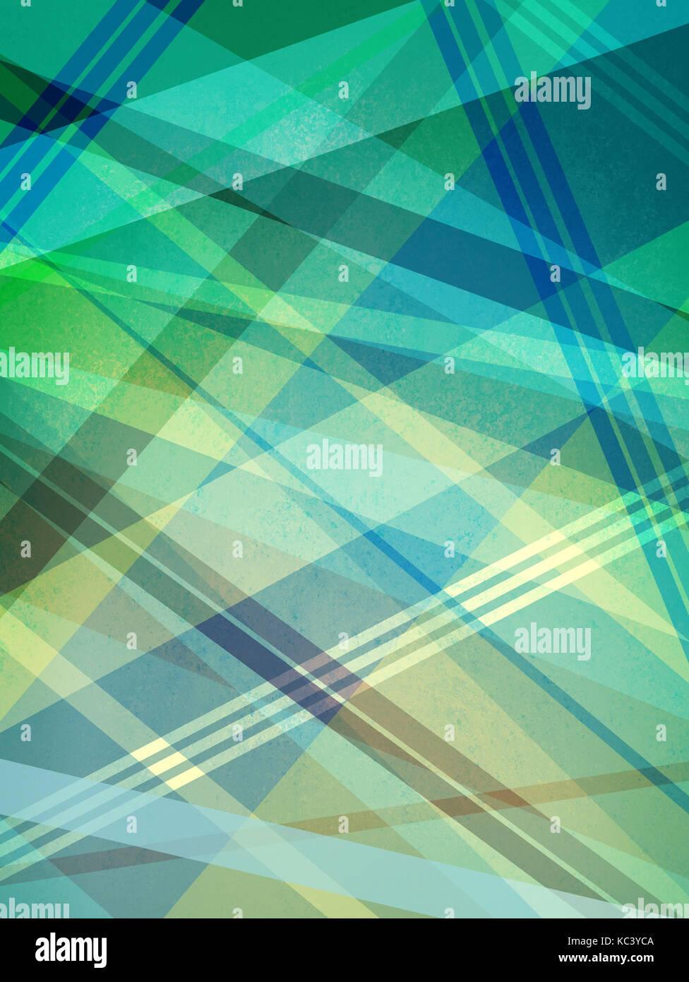 blue green yellow and white background design with intersecting lines and abstract geometric shapes in random pattern, Stock Photo