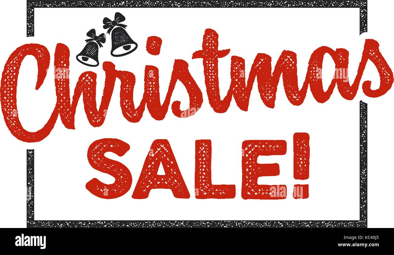 christmas sale lettering and typography elements holiday online shopping type quote stock vector illustration isolated on white background color design