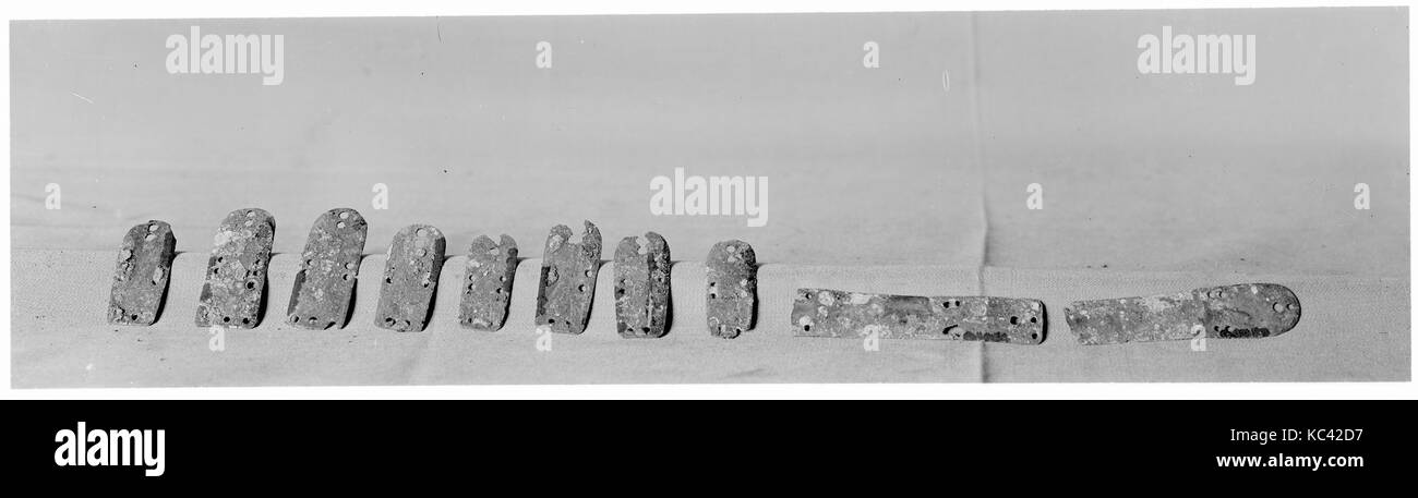 e0ce68436 Lamellae of Lamellar Armor (Probably from a Corselet), 1st–6th Stock ...