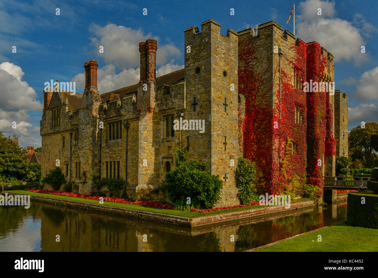 The ivy covered medieval Levers Castle in Kent, UK - Stock Image