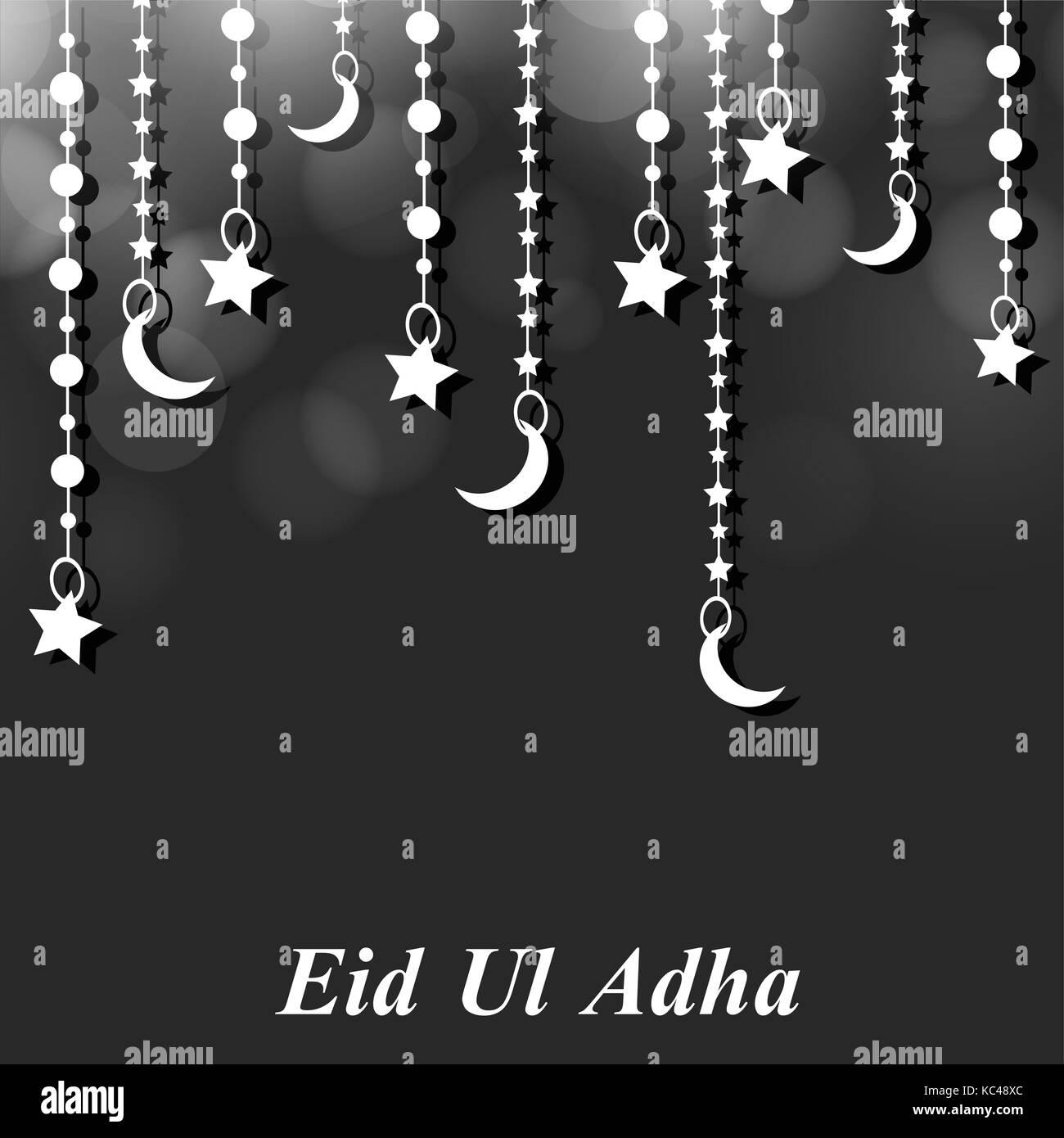 illustration of Muslim Festival Eid Ul Adha Background - Stock Image