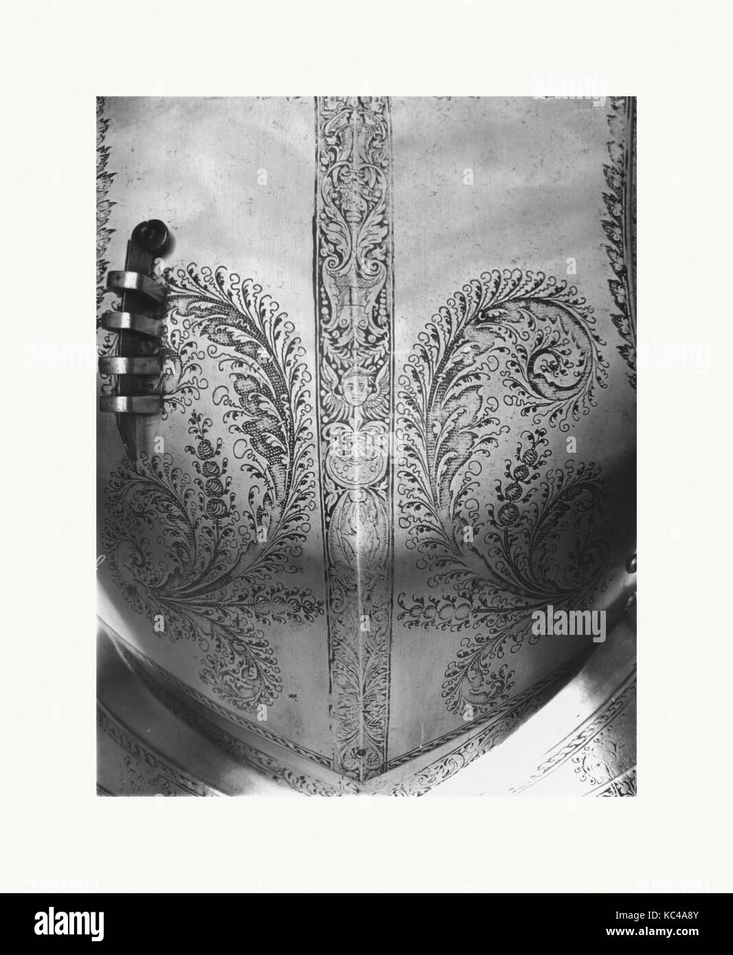 Breastplate, dated 1540, German, Steel, H. 17 in. (43.2 cm); W. 15 7/8 in. (40.3 cm); Wt. 7 lb. 12 oz. (3515 g), - Stock Image