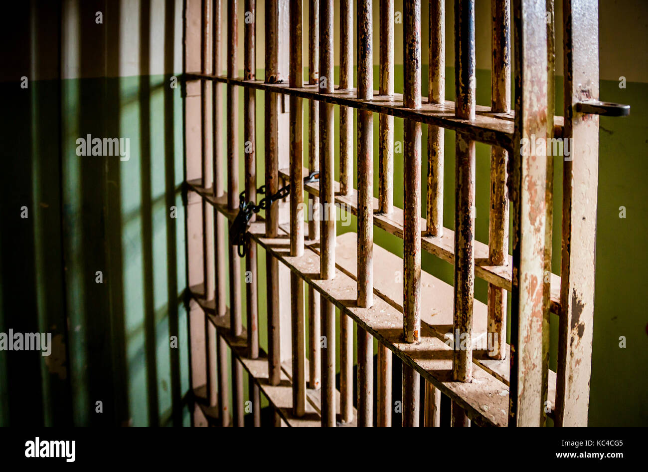 Crime and Law - Prison Cell Bars - Stock Image