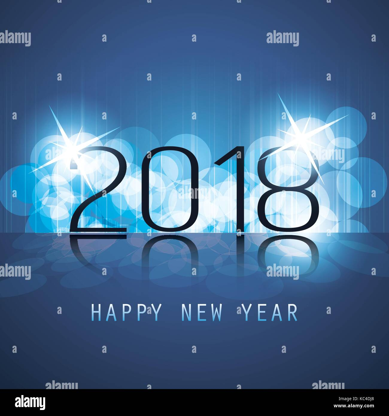 best wishes abstract modern style happy new year greeting card or background creative design template 2018