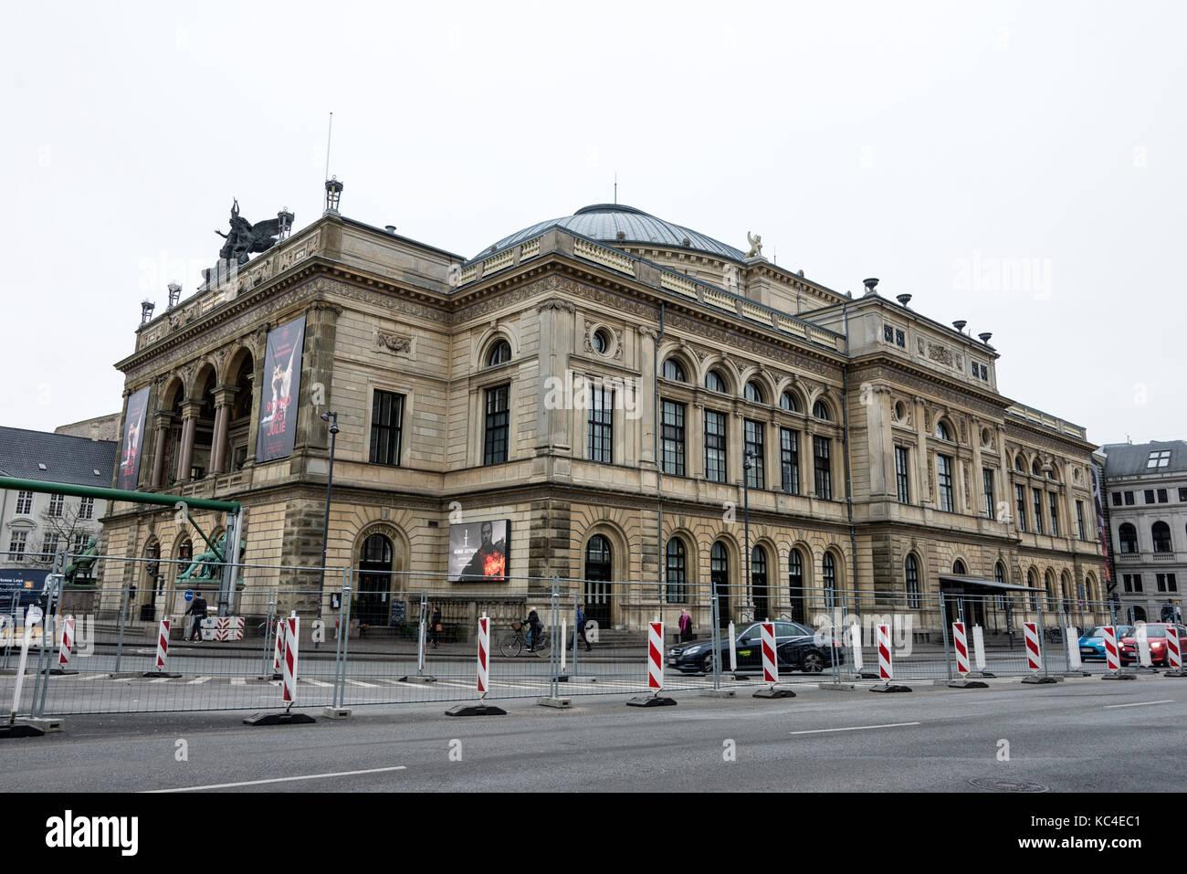 The Royal Danish Theatre on Kongens Nytorv , Copenhagen, Denmark - Stock Image