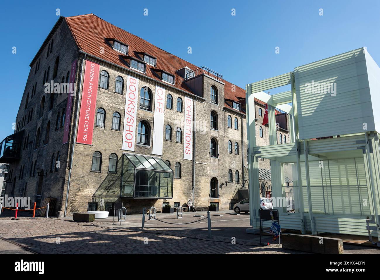 The Danish Architecture Centre (DAC) on Strandgade Christianshavn side of Copenhagen in Denmark. It  is a communication - Stock Image
