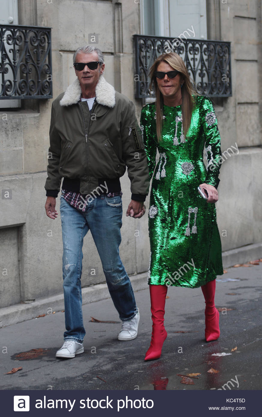 Street Style During Paris Fashion Week Spring Summer 2018 On Sunday Stock Photo 162375961 Alamy