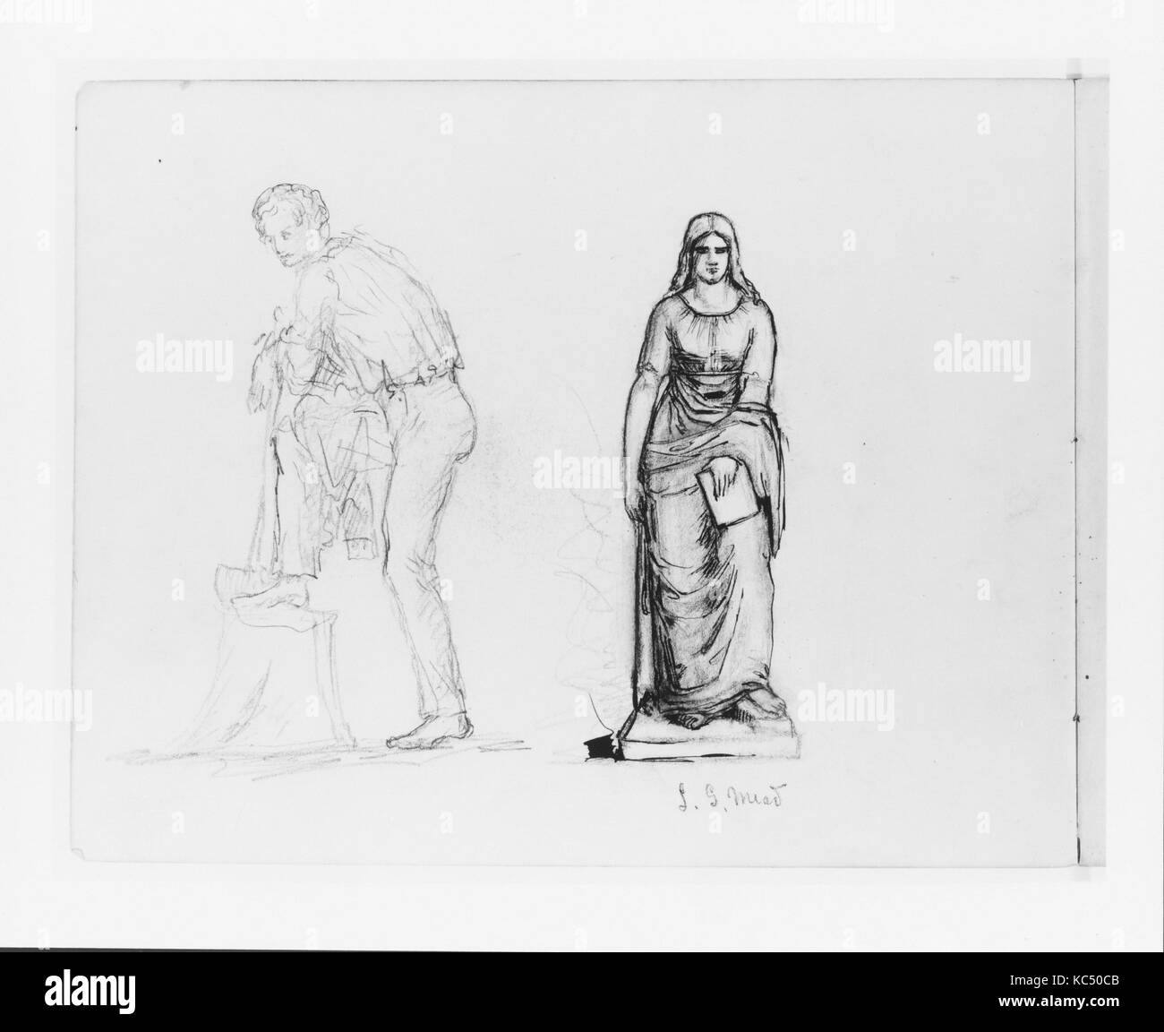https://www alamy com/stock-image-full-length-sketch-of-a-male-figure-study-of-a-sculpture-of-a-female-162379291 html