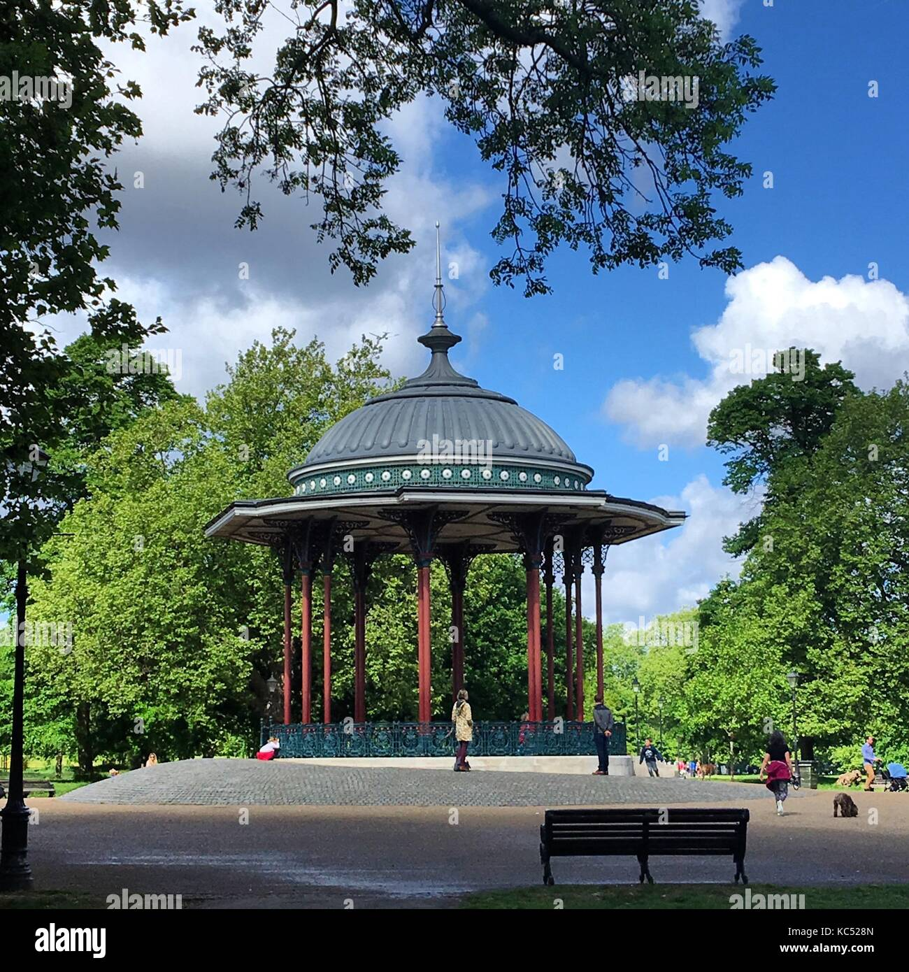 The Bandstand at Clapham Common - Stock Image