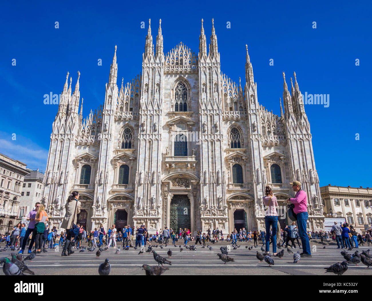 Piazza del Duomo, Milan, Milano, Lombardy, Italy, Europe - Stock Image