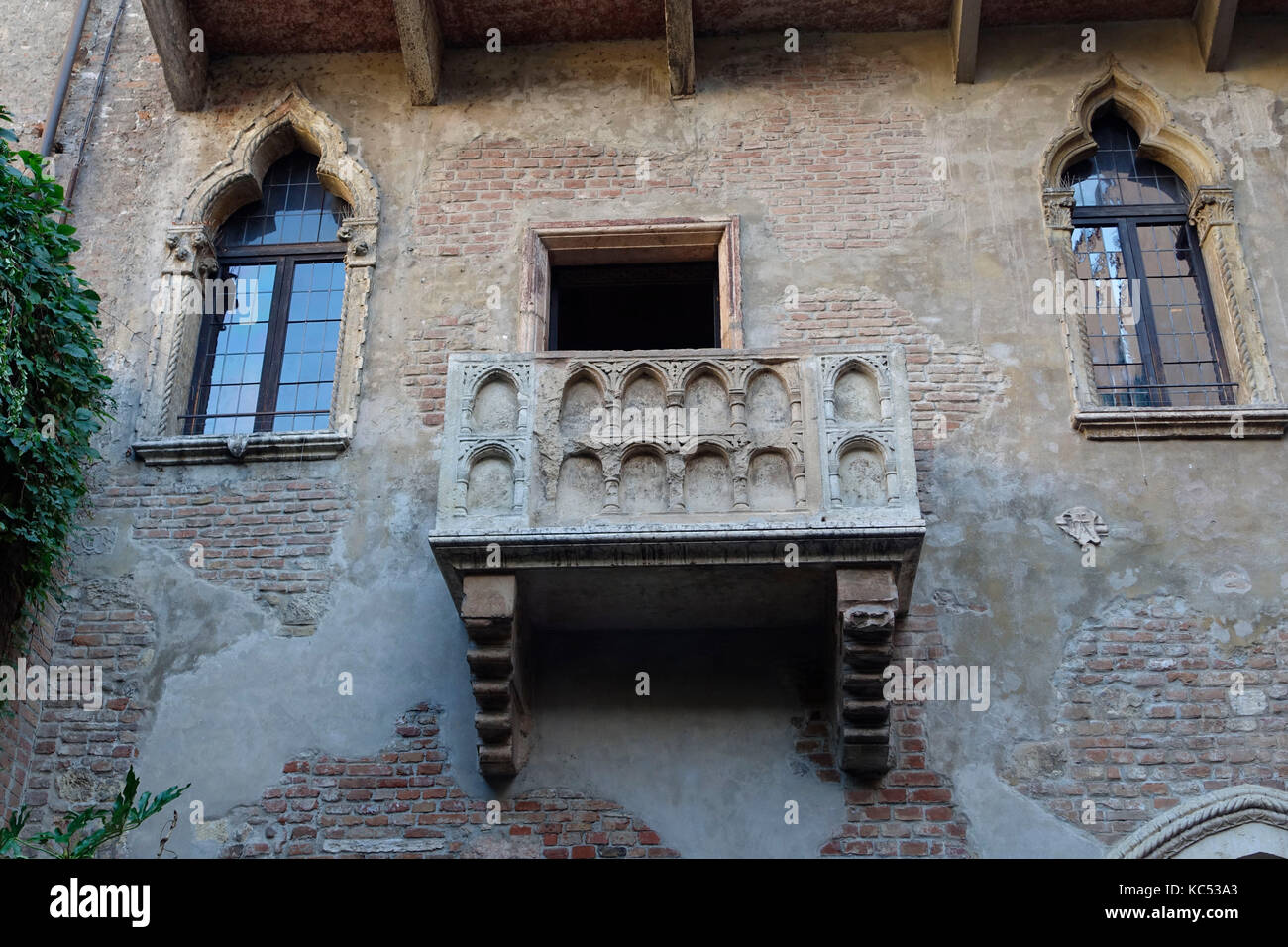 Balkon am Haus der Julia, Casa di Giulietta, Verona, Venetien, Veneto, Italien, Europa  Balcony at Juliet's House, Casa di Giulietta, Verona, Veneto,  Stock Photo
