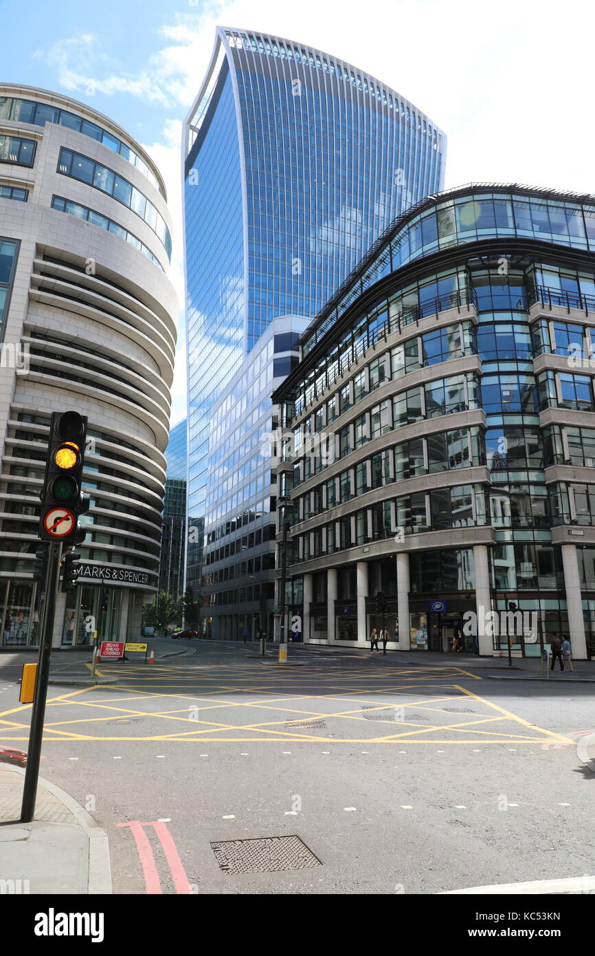 The Walkie Talkie Building 20 Fenchurch St London - Stock Image