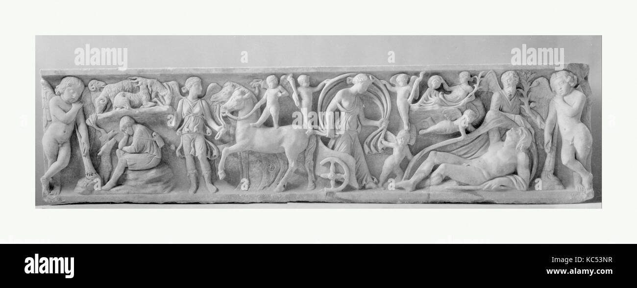 Marble sarcophagus with the myth of Endymion, mid-2nd century A.D - Stock Image