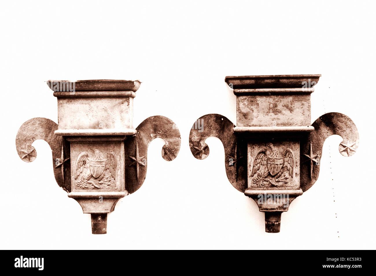 Rainwater Leader, 1800–1830, Painted tin, 19 1/2 x 23 in. (49.5 x 58.4 cm), Metal - Stock Image
