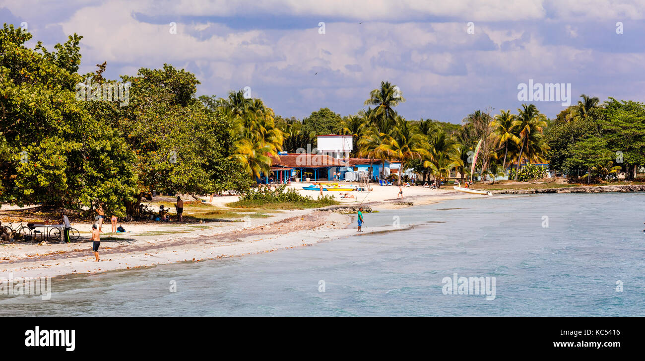 Playa Larga, Bay of Pigs, Cuban Missile Crisis, Zapata peninsula, Matanzas Province, Cuba, Caribbean - Stock Image