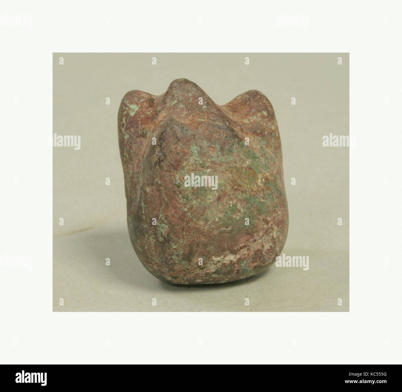 Ritual Object (?), 1st–mid-8th century, Peru, Moche, Stone, H x W x D: 1 3/8 x 1 x 3/4in. (3.5 x 2.6 x 1.9cm), Stone Stock Photo