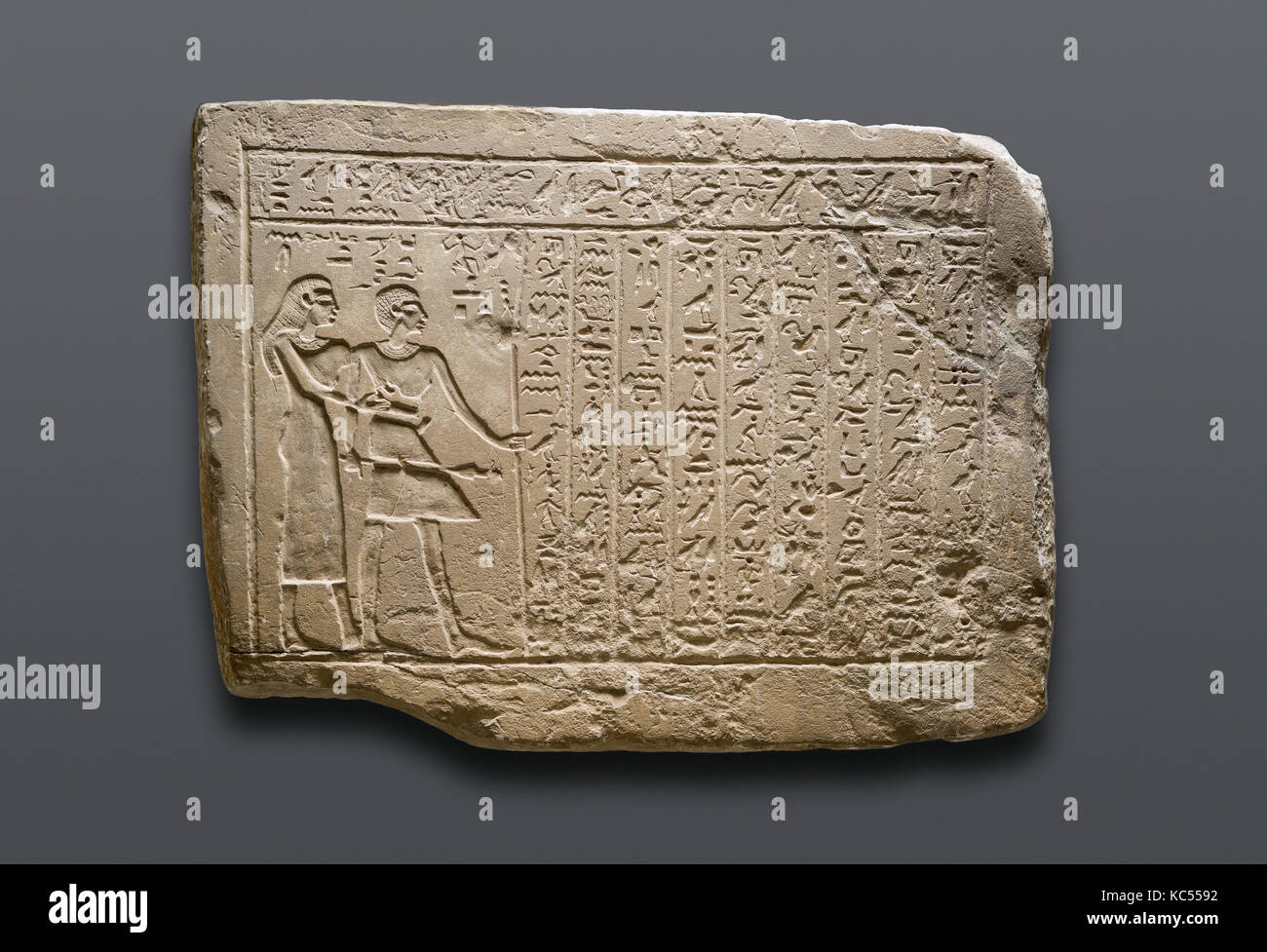 Stela of Djemi, First Intermediate Period, Dynasty 11, early, ca. 2120–2030 BC, From Egypt; Probably from Southern - Stock Image