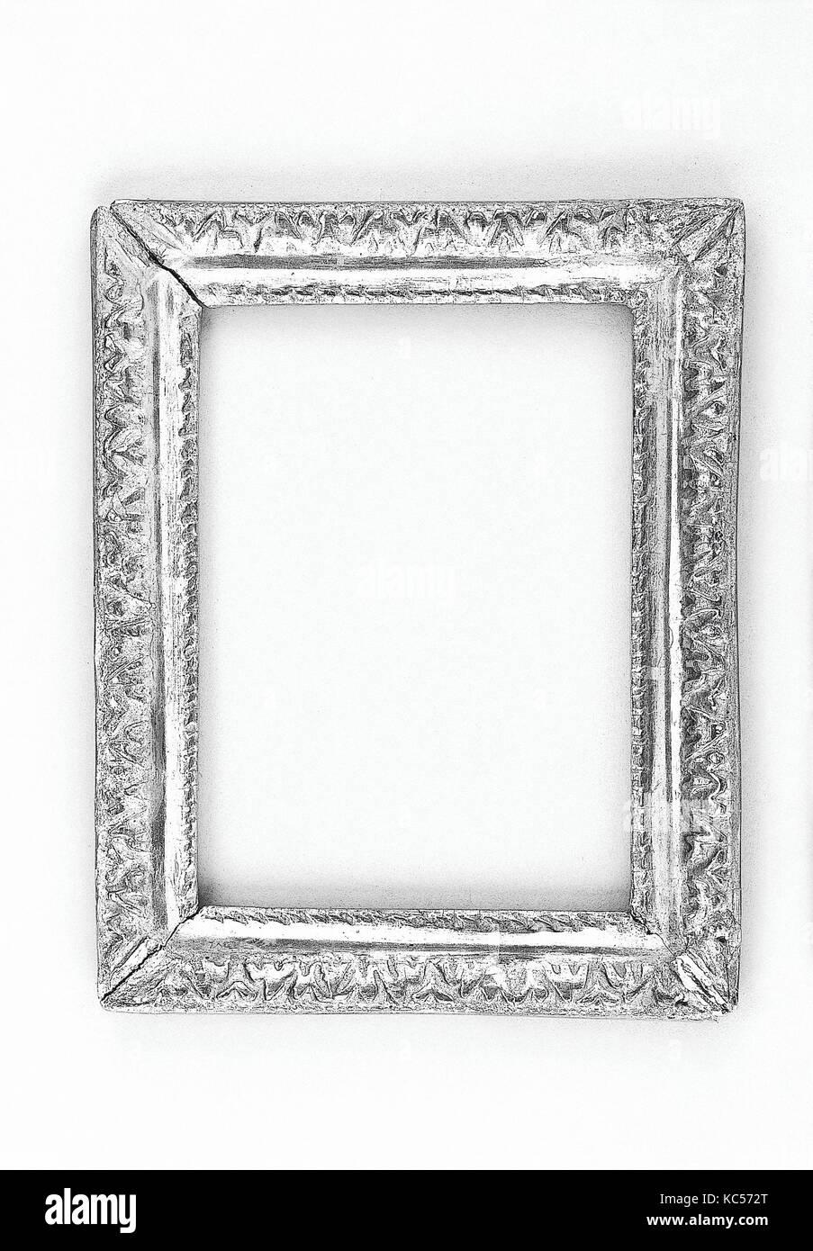 Ovolo frame, 1650–60, French, Walnut, 23 x 17.8, 17 x 11.8, 18 x 12.8 cm., Frames - Stock Image