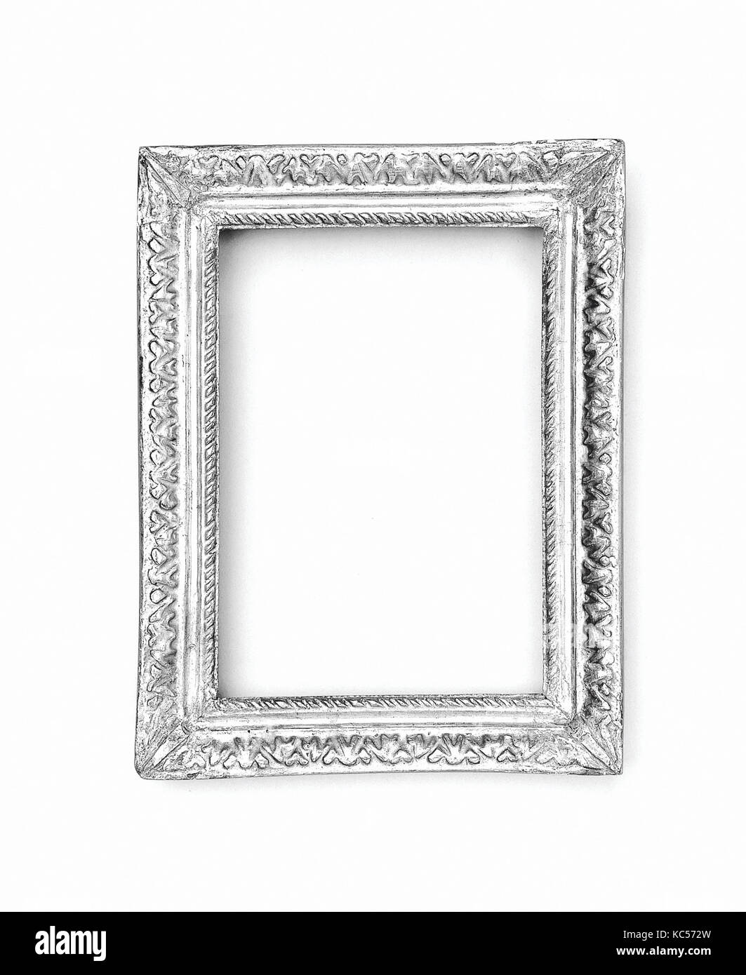 Ovolo frame, 1650–70, French, Softwood, 23.2 x 17.9, 17.2 x 12, 19 x 13.5 cm., Frames - Stock Image