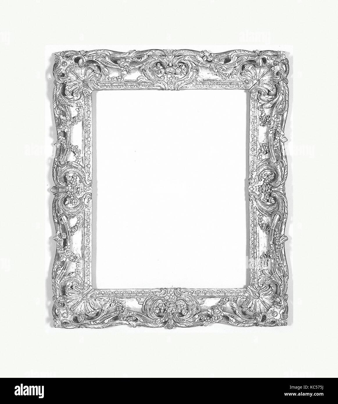 Swept frame, 19th century (style 1760–70), Southern France, Oak, 112 x 95, 78.2 x 62, 82.6 x 66 cm., Frames - Stock Image