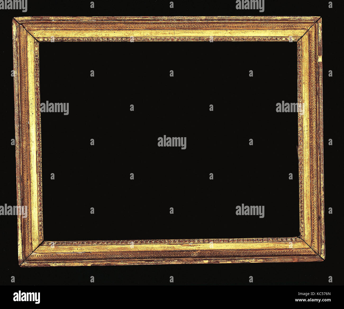 Cassetta frame, 1770–80, Southern France (?), Softwood, 49.2 x 61, 39.5 x 51.8, 41.5 x 53.4 cm., Frames - Stock Image