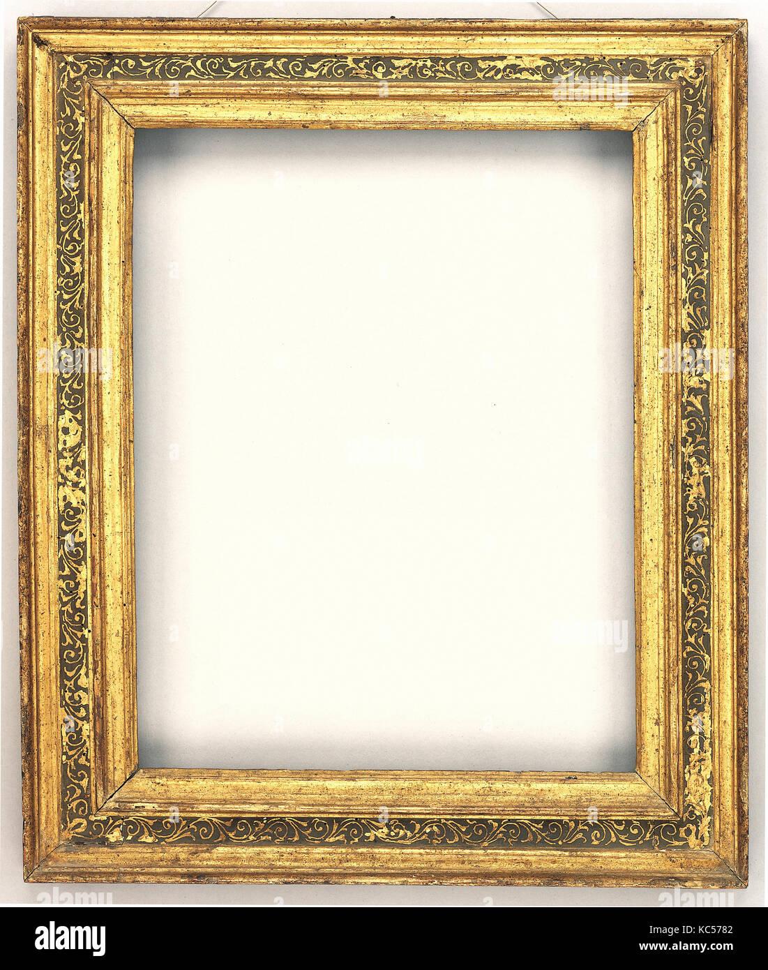Cassetta frame, mid-16th century, Italian, Venice, Gilt poplar, 58.7 ...