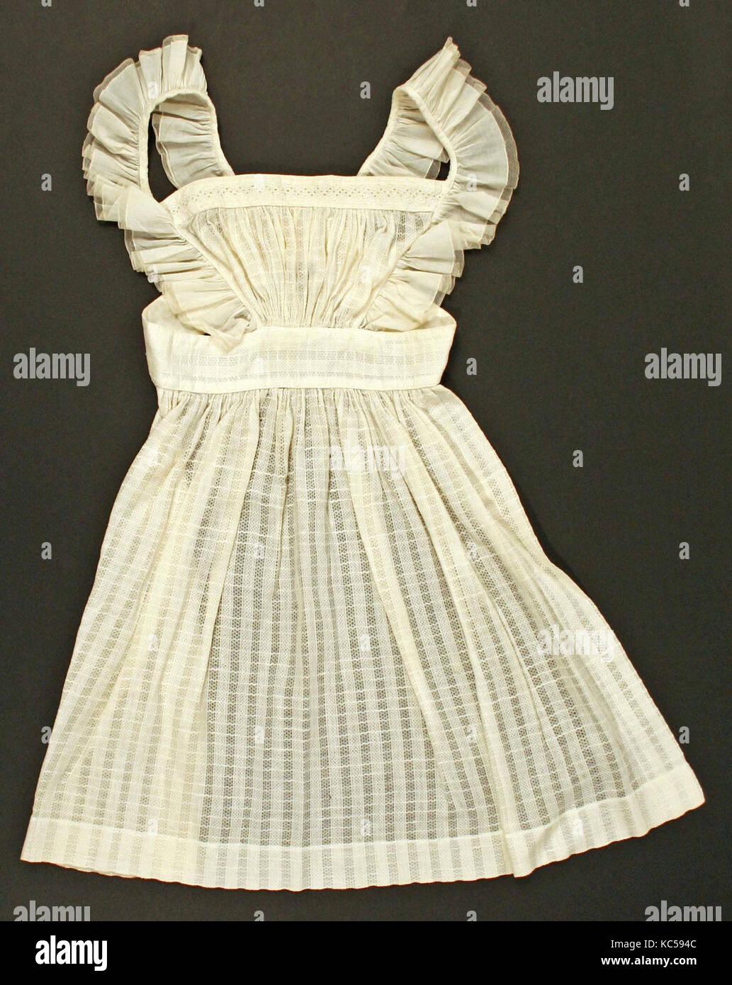 Accessory set, 1830s, American or European, cotton - Stock Image