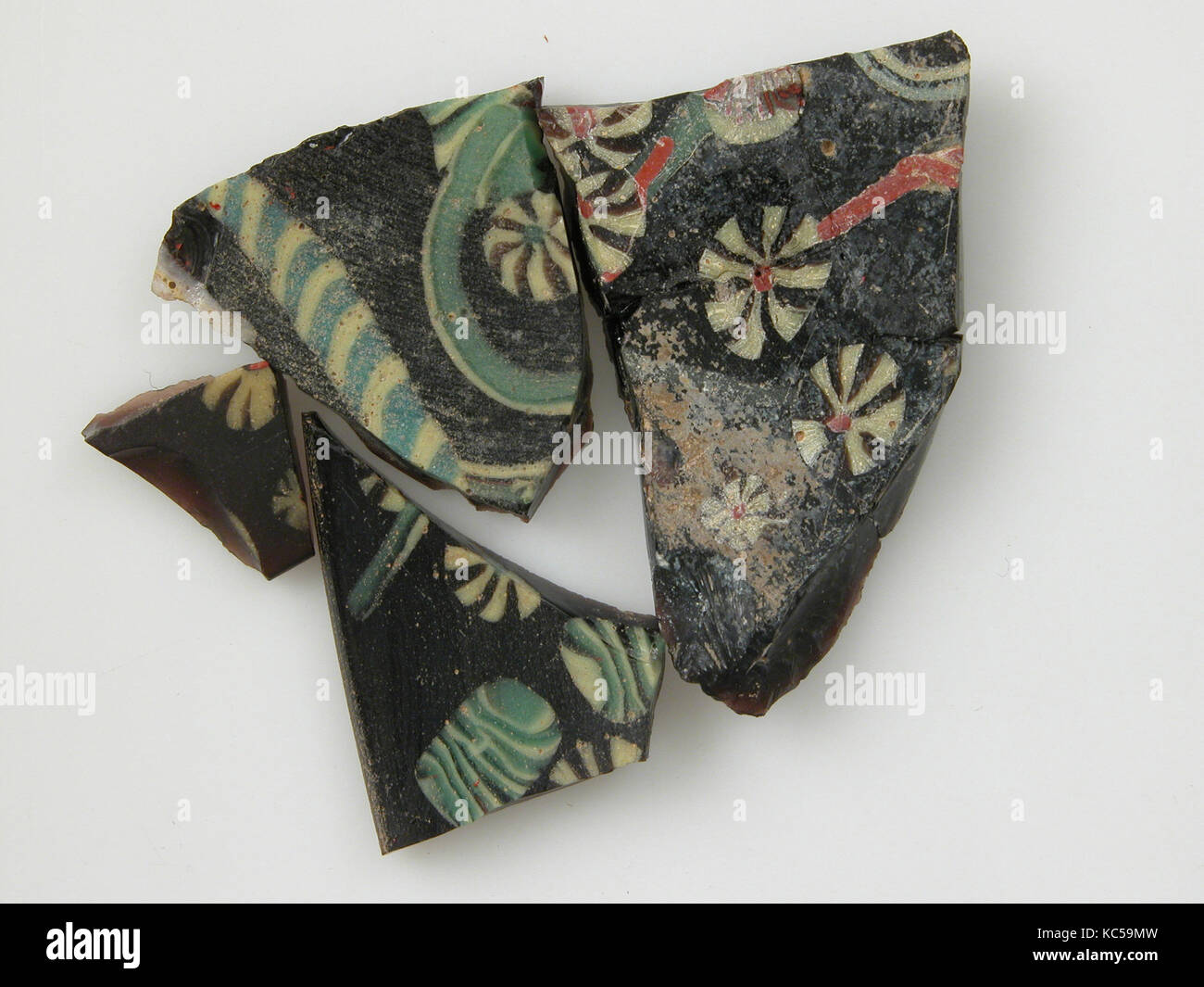 Glass Fragments from a Vessel, 4th–early 5th century - Stock Image