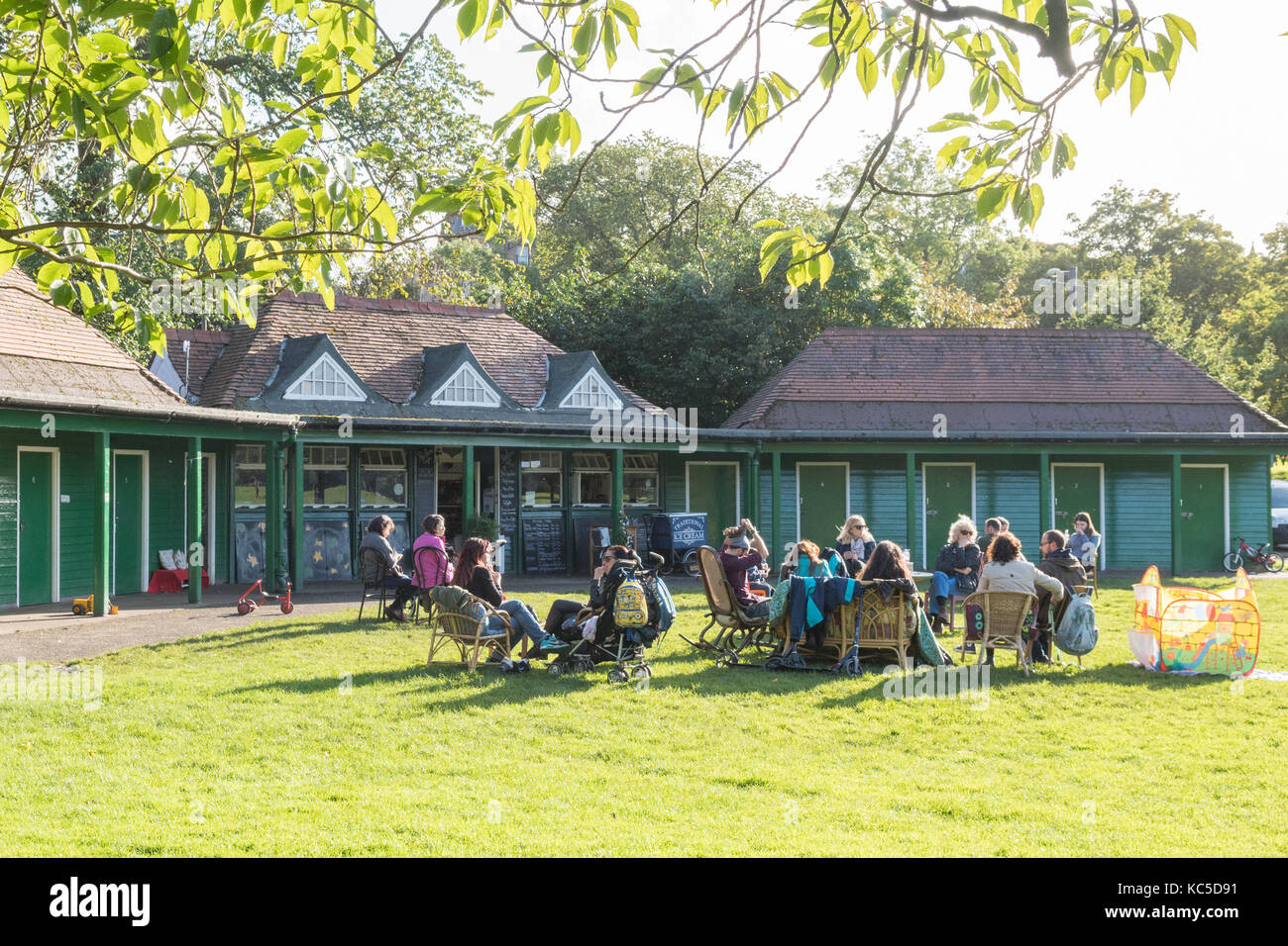 The Pavilion vegetarian cafe, The Meadows, Edinburgh, Scotland, UK - Stock Image