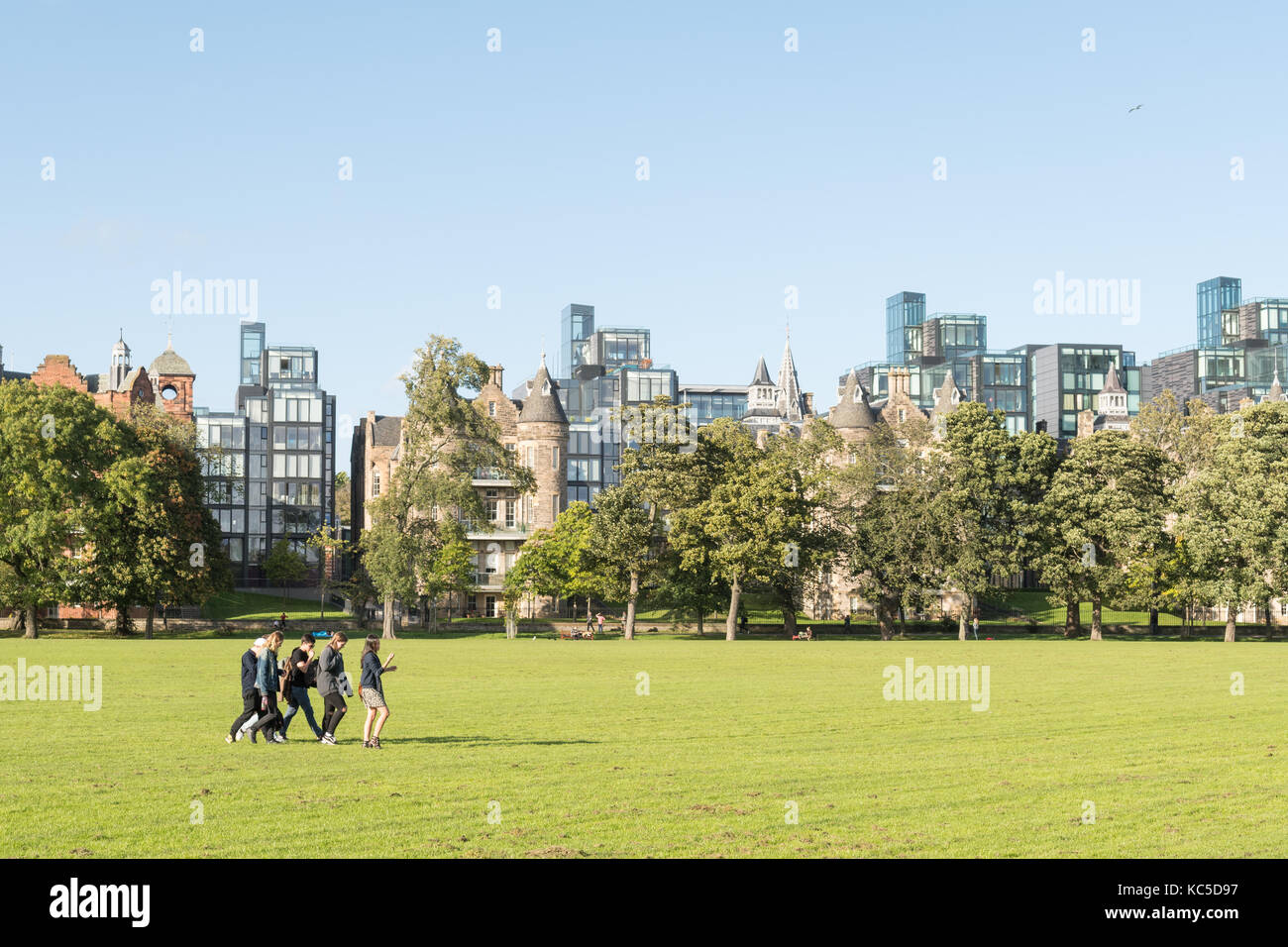 Edinburgh luxury housing - Quartermile development overlooking The Meadows park, Edinburgh, Scotland, UK - Stock Image