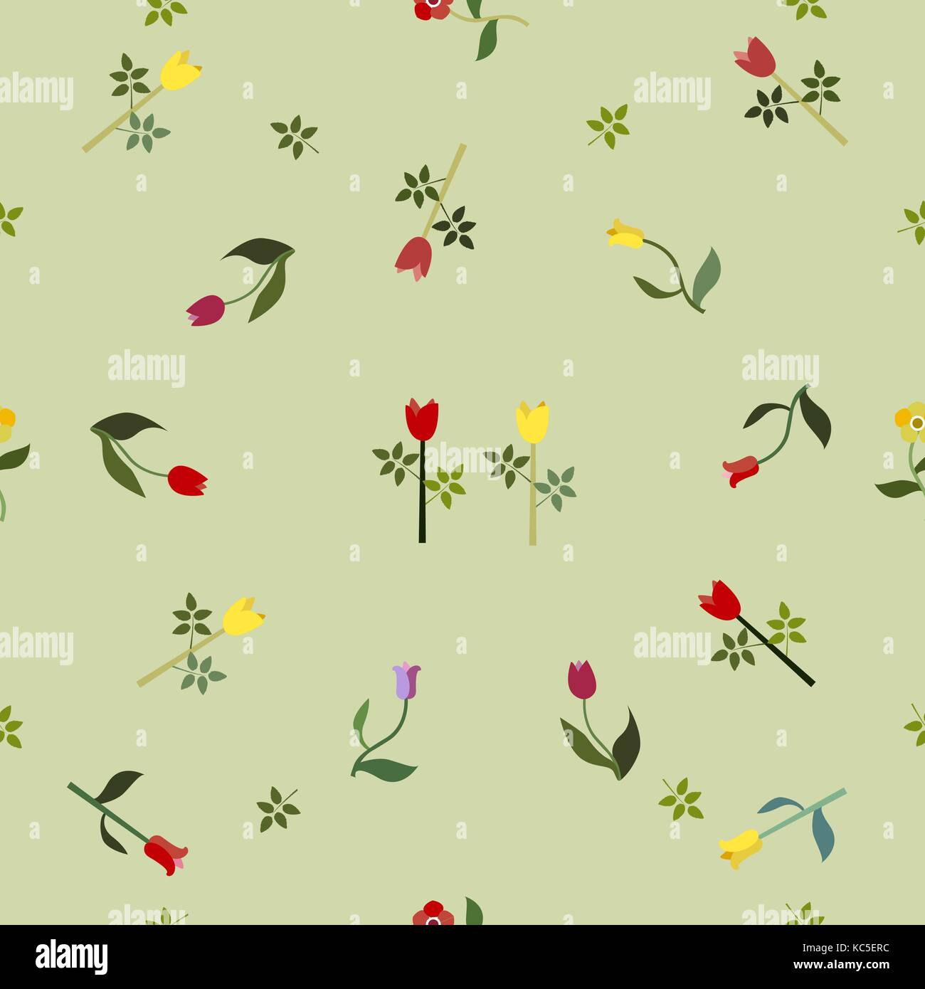 Seamless Floral Pattern. Modern Design. Vector Illustration - Stock Vector