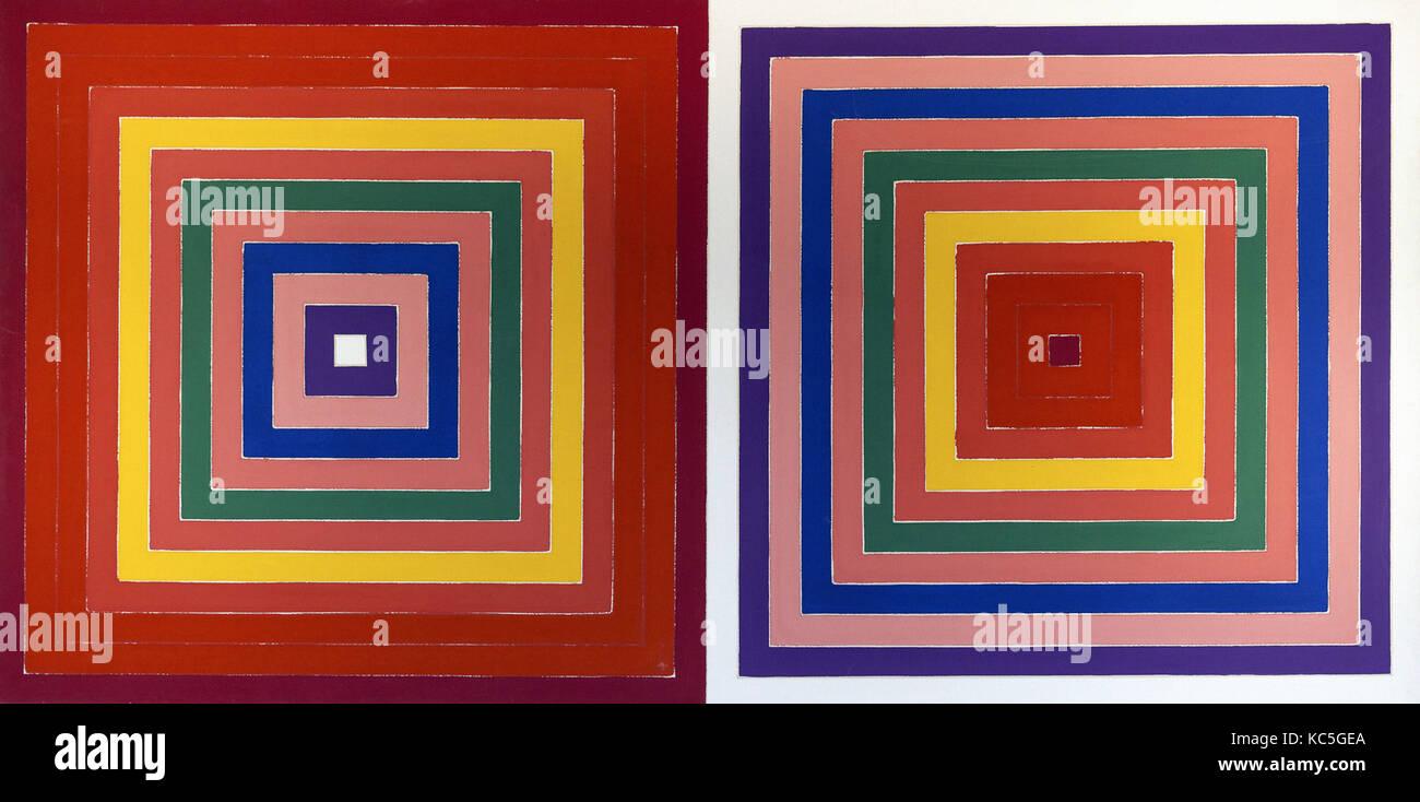 Frank Stella -  Double Scramble 1978 - Stock Image