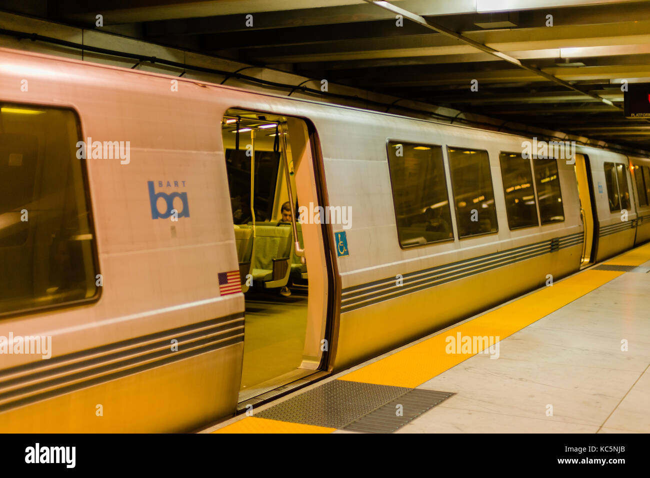 BART (Bay Area Rapid Transit) train, San Francisco, California - Stock Image