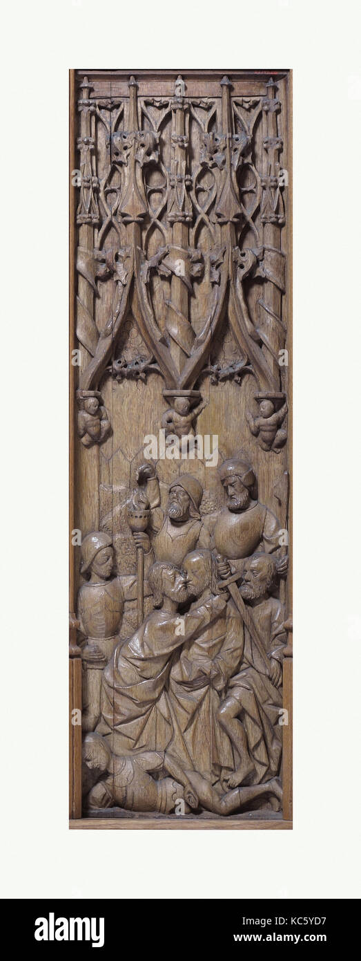 Panel With The Kiss Of Judas, Early 16th Century, Made In Normandy, France