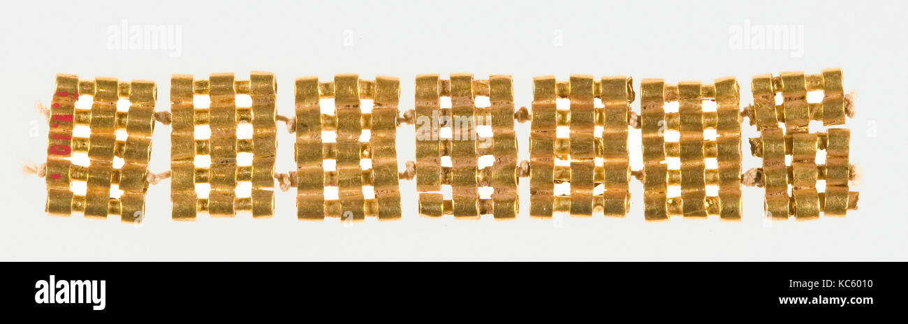 Unattached Spacers from a Bracelet or Anklet of Sithathoryunet, ca. 1887–1813 B.C - Stock Image