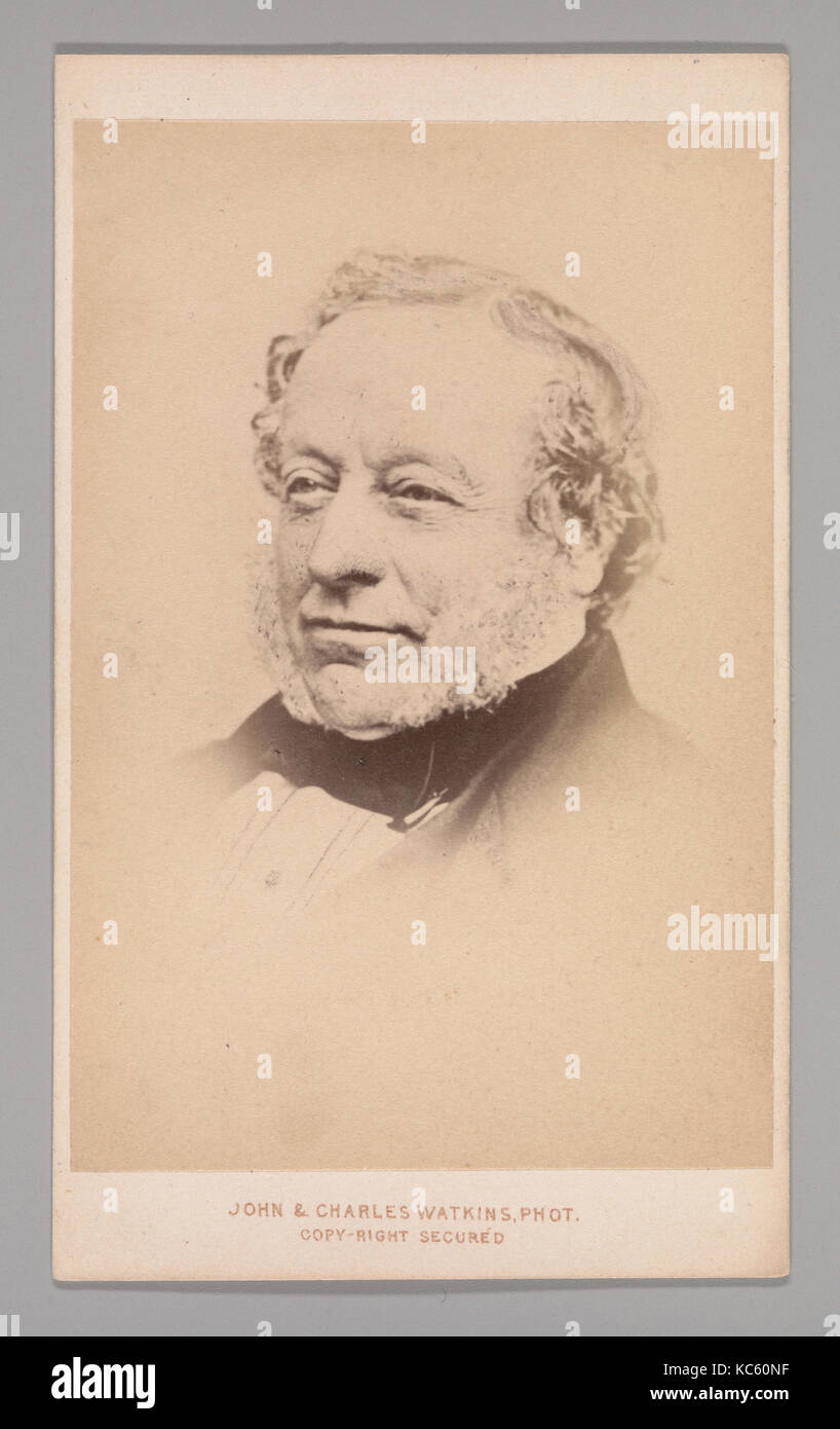 Sir Charles Barry, 1860s, Albumen silver print, Approx. 10.2 x 6.3 cm (4 x 2 1/2 in.), Photographs - Stock Image