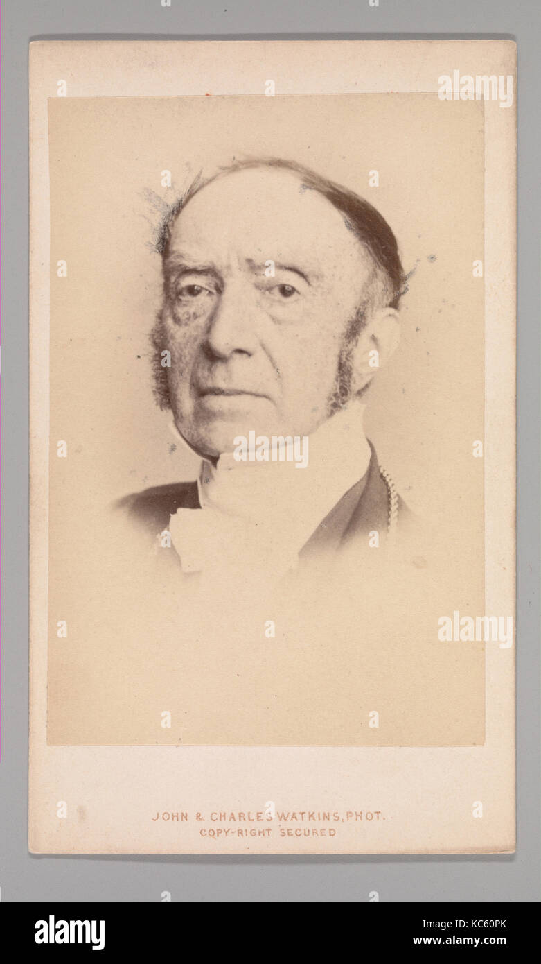 Sir Charles Lock Eastlake, 1860s, Albumen silver print, Approx. 10.2 x 6.3 cm (4 x 2 1/2 in.), Photographs - Stock Image