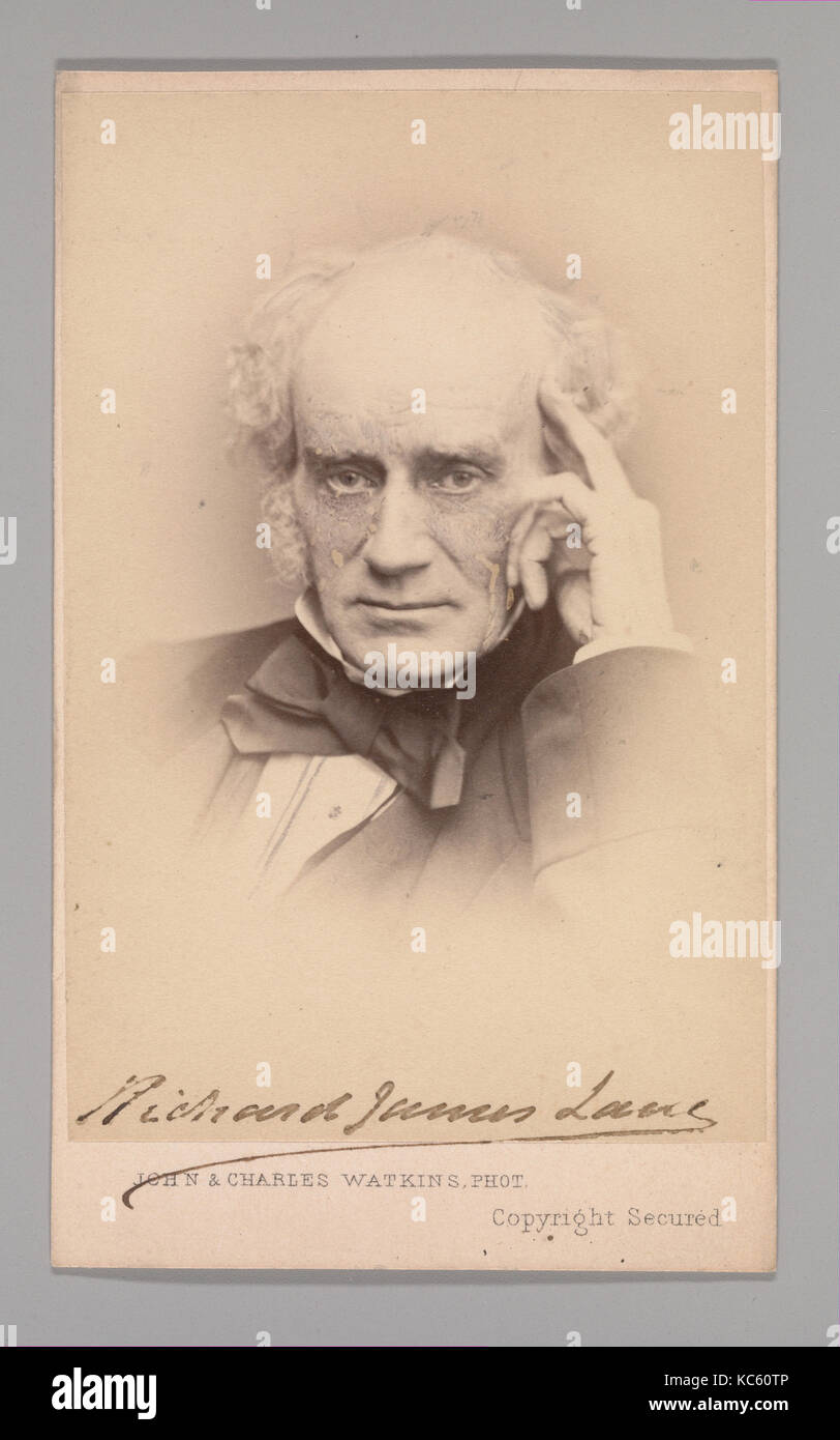 Richard James Lane, 1860s, Albumen silver print, Approx. 10.2 x 6.3 cm (4 x 2 1/2 in.), Photographs - Stock Image