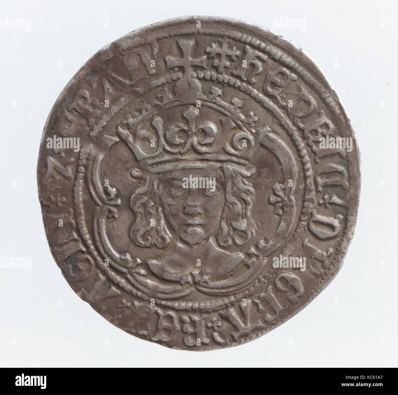 Groat of Henry VII (1485–1509), early 16th century, British, Silver, Diam. 25 mm., Coins - Stock Image