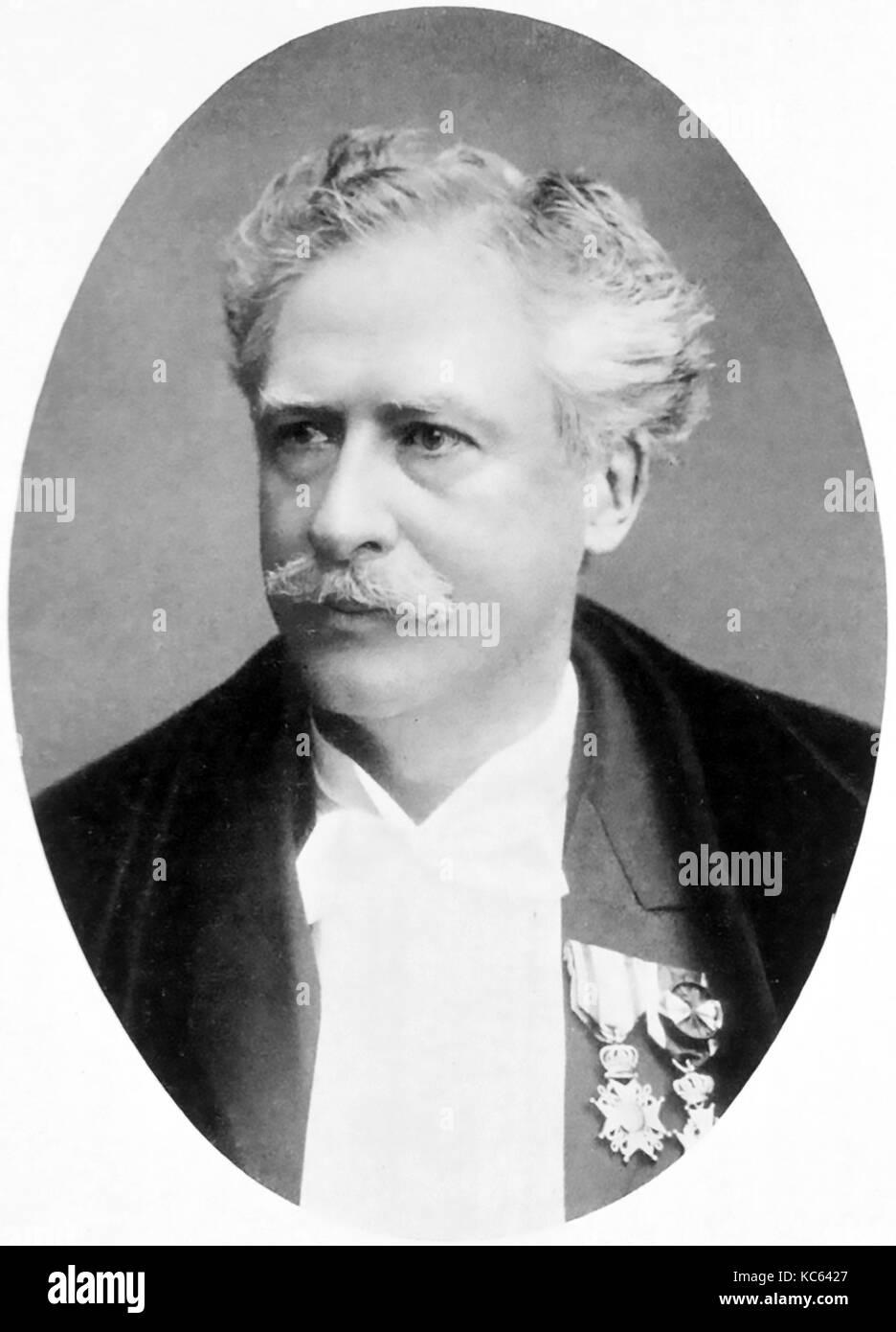 HERMAN SNELLEN (1834-1908) Dutch opthamologist - Stock Image
