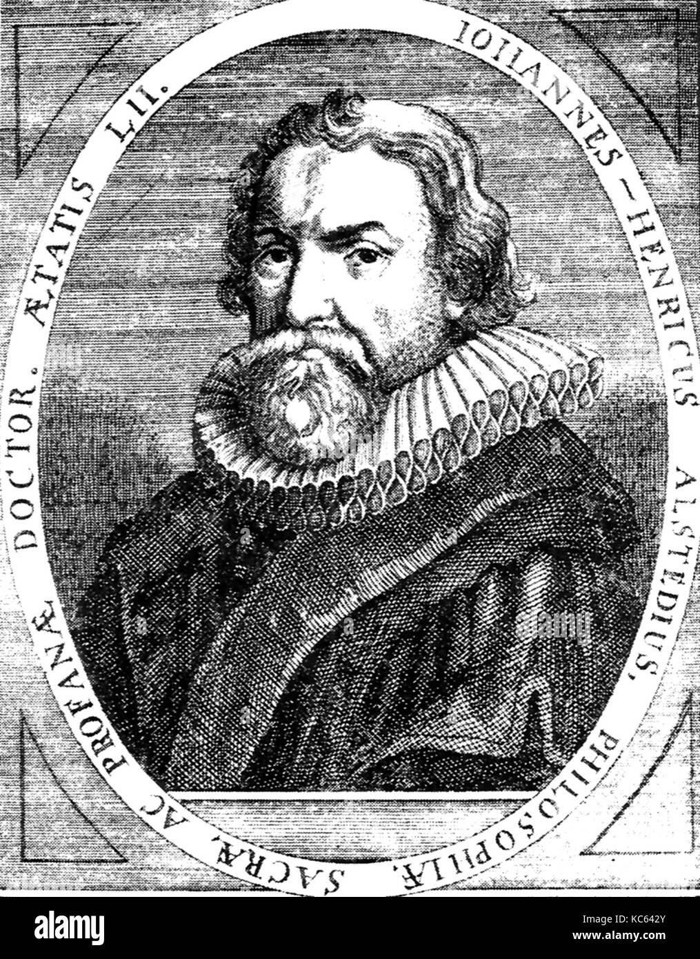 JOHANN ALSTED (1588-1638) German Calvinist minister and compiler of encyclopaedias - Stock Image
