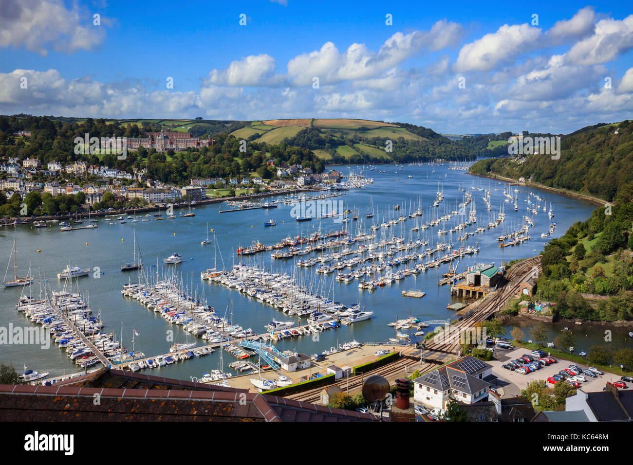 The River Dart captured from Kingswear in South Devon - Stock Image