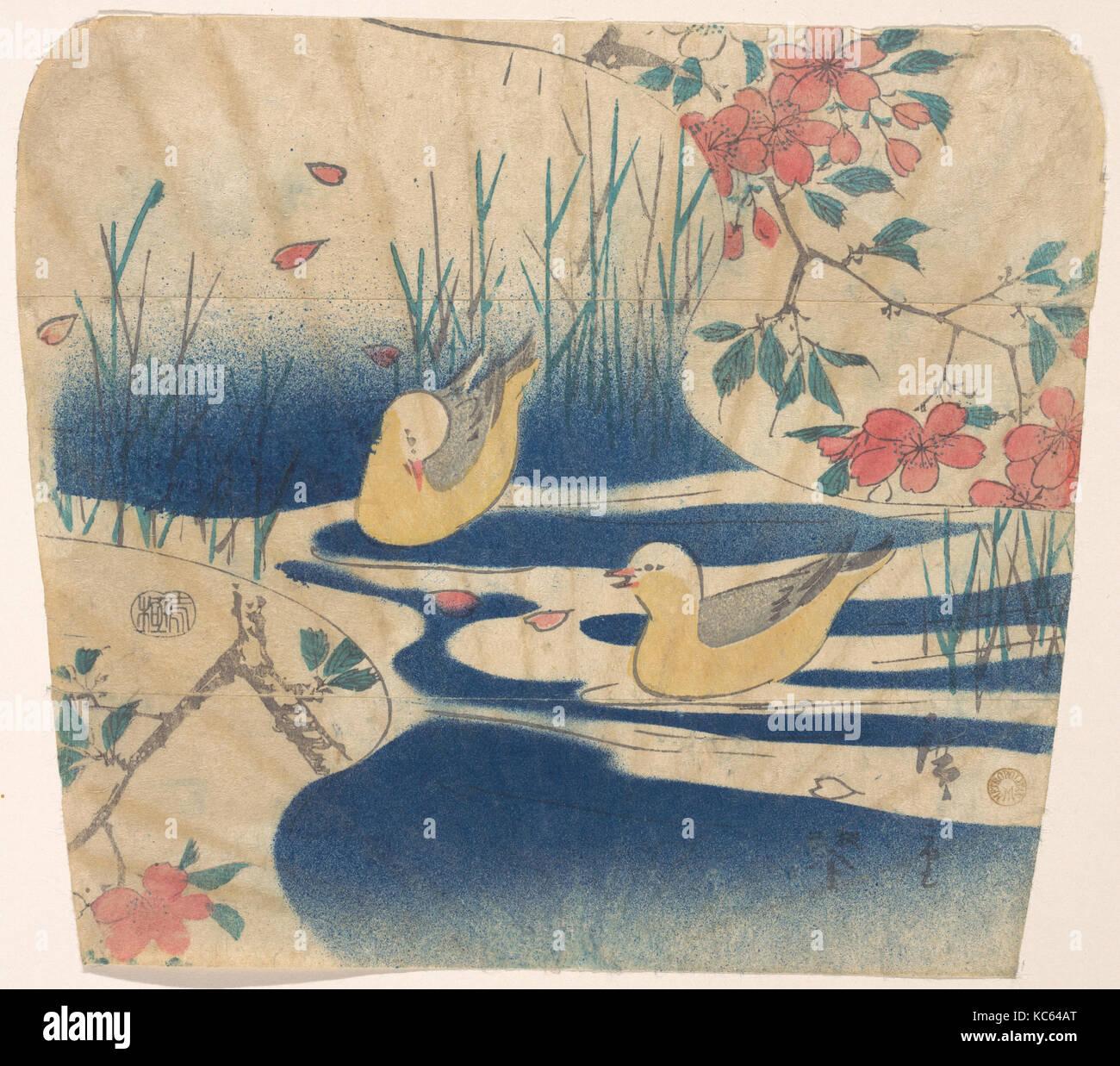 Cherry Blossoms and hooded Gulls Utagawa Hiroshige Poster Japanese Print