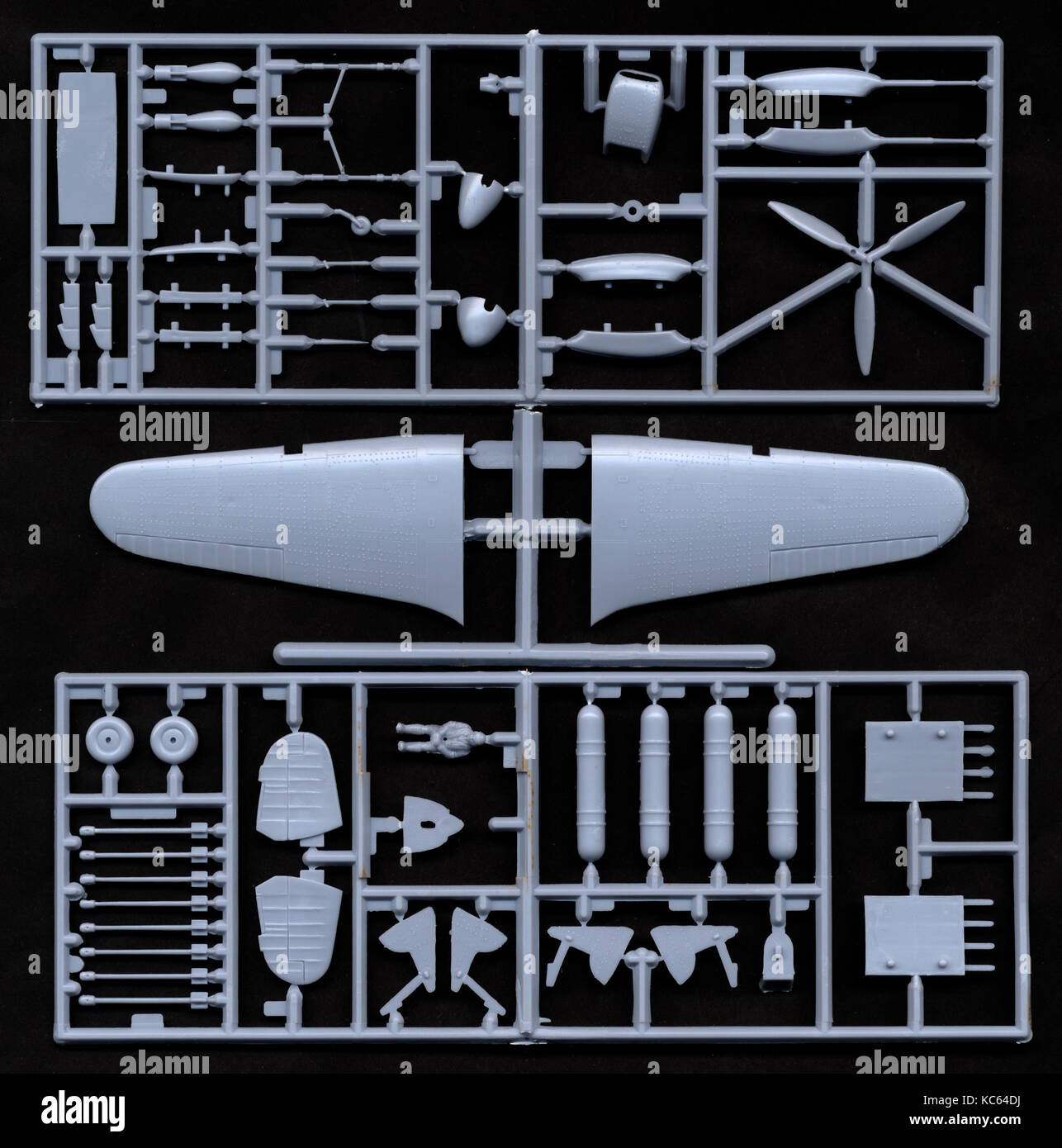 Plastic Model Aircraft Kit for Assembly - Stock Image