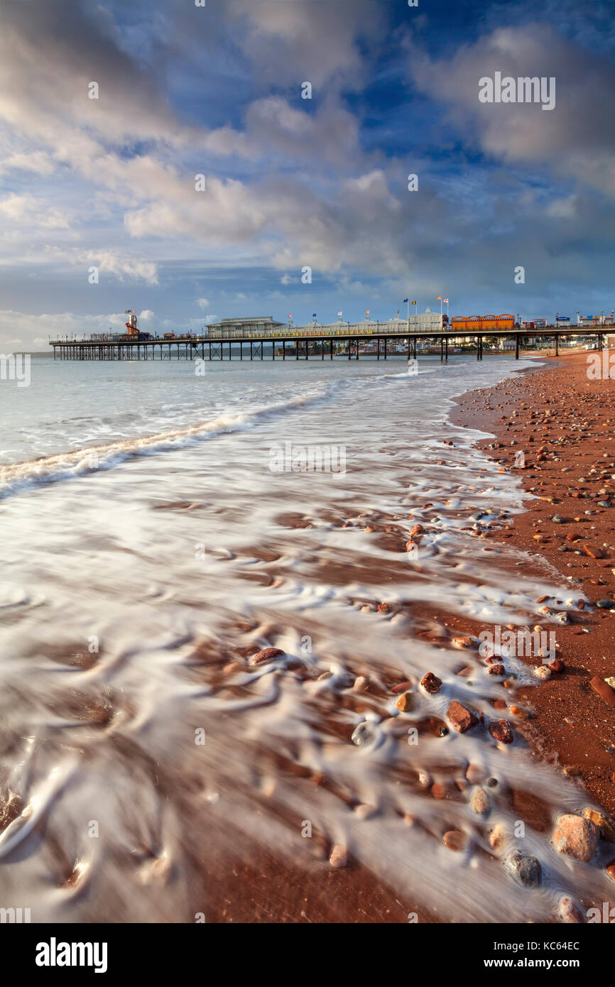 Paignton Pier on the South Coast of Devon Stock Photo