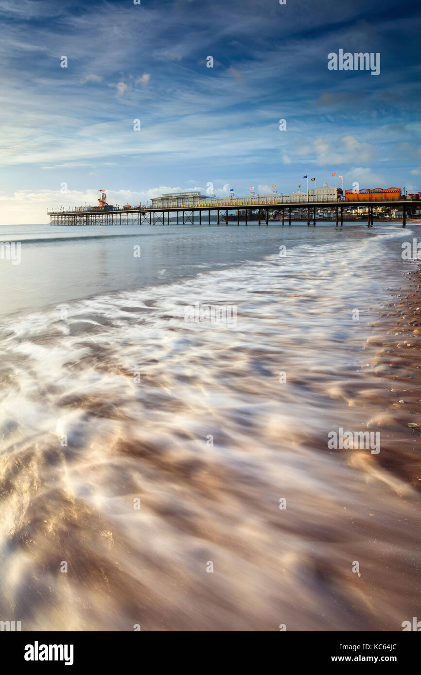 Paignton Beach in Devon. Stock Photo
